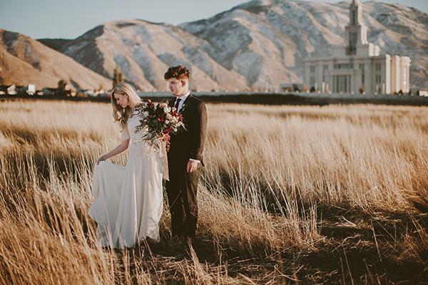 The Golden Hour Utah Valley Bride
